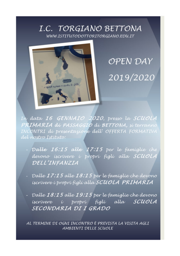 open day 2019-20